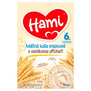 Hami mléčná kaše krupicová s vanilkovou příchutí od uk. 6. měsíce 225g