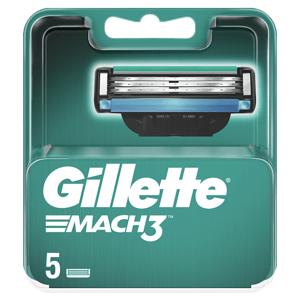 Gillette Mach3 Pánské Holicí Hlavice, Náhradní Holicí Hlavice 5 ks