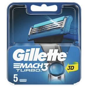 Gillette Mach3 Turbo Holicí Hlavice, Náhradní Holicí Hlavice 5 ks
