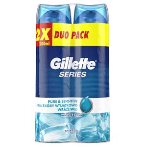 Gillette Series Pure &Sensitive Pánský Gel Na Holení 2x200ml