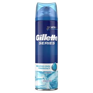 Gillette Series Sensitive Cool Gel Na Holení Pro Muže 200Ml