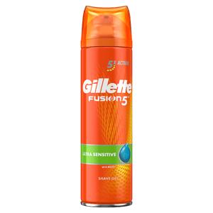 Gillette Fusion5 Ultra Sensitive Pánský Gel Na Holení 200Ml
