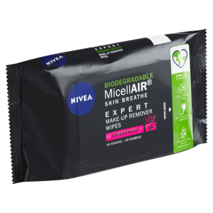 Nivea MicellAir Expert Biodegradable Expertní odličovací micelární ubrousky 20 ks