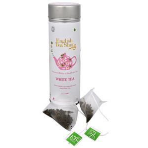 English Tea Shop Čistý bílý čaj 15 pyramidek sypaného čaje v plechovce