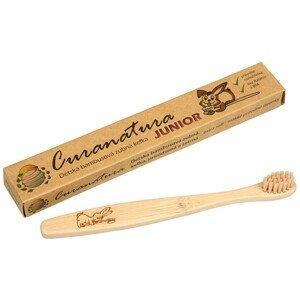 Curanatura Junior dětský bambusový zubní kartáček extra soft