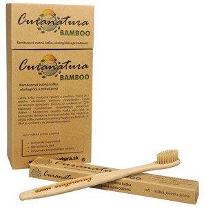 Curanatura Zdravý zubní kartáček Curanatura 12 ks Bamboo - zelená volba