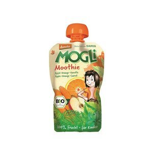 MOGLI Bio Ovocné pyré Moothie jablko pomeranč mrkev bez cukru 100 g