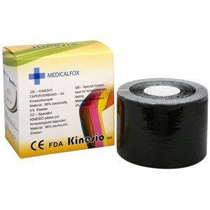 Medicalfox Tejpovací páska Kinezio 5 cm x 5 m Černá
