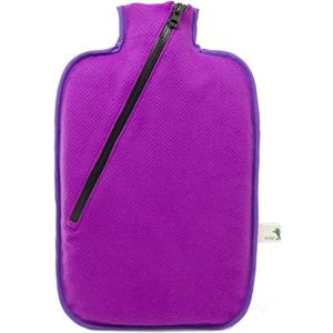 Hugo-Frosch Termofor Eco Classic Comfort se softshellovým obalem na zip - fialový