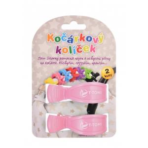 T-tomi Kočárkový kolíček 2 ks Pastel pink