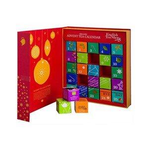 English Tea Shop Adventní kalednář kniha červená BIO 25 pyramidek, 13 příchutí