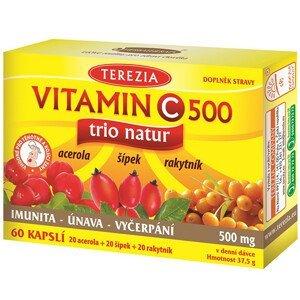 Terezia Company Vitamin C TRIO NATUR 500 mg 60 kapslí