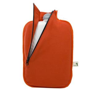 Hugo-Frosch Termofor Eco Classic Comfort se softshellovým obalem na zip – oranžový