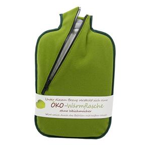 Hugo-Frosch Termofor Eco Classic Comfort se softshellovým obalem na zip – zelený