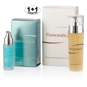 Herb Pharma Hydroceutical - biotechnologické sérum 30 ml + Pureceutical - čistící gel 125 ml (1 + 1 zdarma)