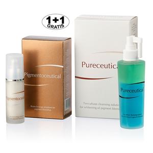 Herb Pharma Pigmentoceutical - biotechnologická emulze na pigmentové skvrny 30 ml + Pureceutical - dvojfázový čistící roztok 125 ml (1 + 1 zdarma)