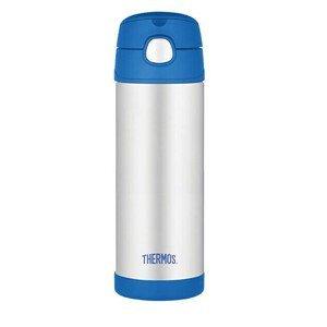 Thermos FUNtainer Dětská termoska s brčkem - modrá 470 ml