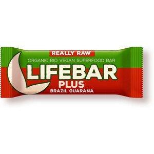 Lifefood Bio tyčinka Lifebar Plus Guarana a Brazil 47g