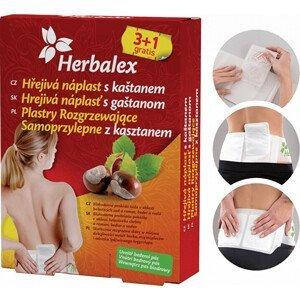SwissMedicus Herbalex Hřejivé náplati s kaštanem 4 ks + bederní pás