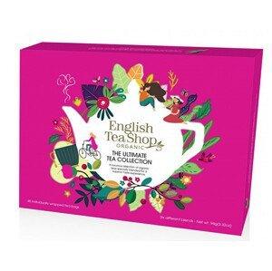 English Tea Shop Prémiová sada čajů BIO v papírové kazetě 48 sáčků - 6 příchutí, červená