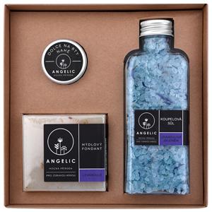 Angelic Dárková krabička Angelic koupelová sůl Levandulové zklidnění