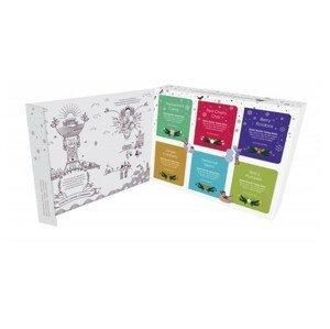 English Tea Shop Dárková sada čajů BIO v papírové kazetě 48 sáčků - 6 příchutí, bílá