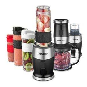 Concept Fresh&Nutri smoothie mixér, chopper, mlýnek, 700W + láhve 2 x 570 ml + 400 ml černý SM3390