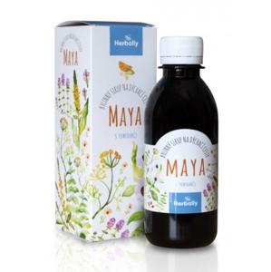 Herbally MAYA bylinný sirup na dýchací cesty s pomeranči 200 ml