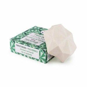 Lamazuna Tuhé mýdlo na holení pro normální pokožku - zelený čaj a citrón 17 g