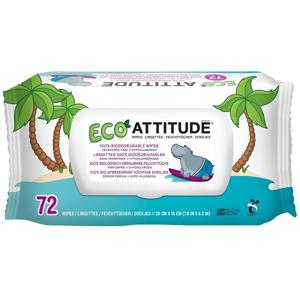 Attitude Hypoalergenní a eko vlhčené ubrousky bez vůně balení 72 ks