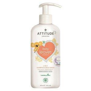ATTITUDE Dětské tělové mýdlo a šampon (2 v 1) ATTITUDE Baby leaves s vůní hruškové šťávy 473 ml