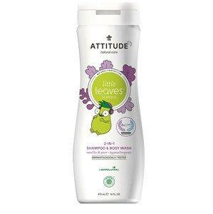 ATTITUDE Dětské tělové mýdlo a šampon (2 v 1) ATTITUDE Little leaves s vůní vanilky a hrušky 473 ml