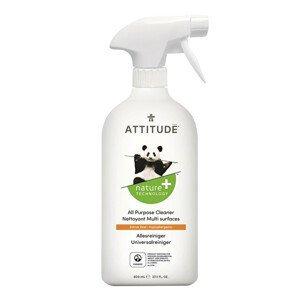 ATTITUDE Nature+ Univerzální čistič ATTITUDE s vůní citronové kůry s rozprašovačem 800 ml