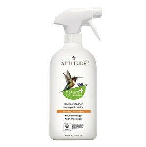ATTITUDE Nature+ Čistič na kuchyně ATTITUDE s vůní citronové kůry s rozprašovačem 475 ml