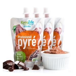 KetoLife Proteinové pyré - S jogurtem a čokoládovou příchutí 3 ks