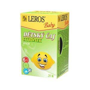 LEROS LEROS Baby Dětský čaj Citrónek 20 x 2 g
