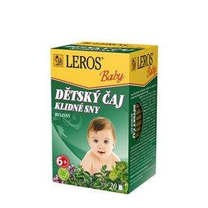 LEROS LEROS Baby Dětský čaj Klidné sny 20 x 1.5 g