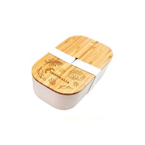 Tropikalia svačinový box L 1100 ml barva pásky bílá