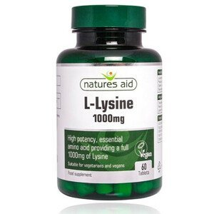 Natures Aid L-Lysín 1000 mg - 60 tablet