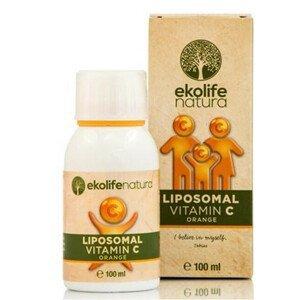 Ekolife Natura Liposomal Vitamin C 500 mg 100 ml pomeranč