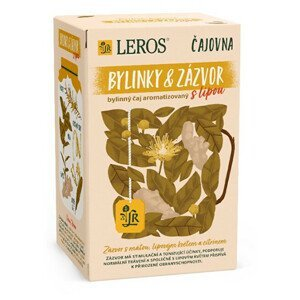 LEROS Čajovna Bylinky a Zázvor s lípou 20 x 2 g