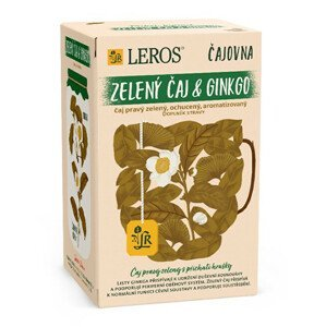 LEROS Čajovna Zelený čaj Ginkgo 20 x 2 g
