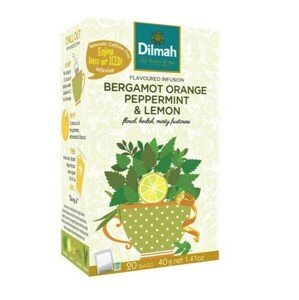 Dilmah Bergamot Orange Peppermint & Lemon 20 x 2 g