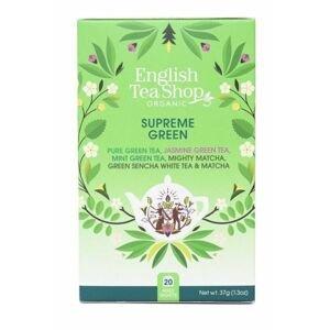English Tea Shop MIX vrcholně zelených čajů, BIO 20 sáčků