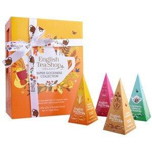 English Tea Shop Dárková kolekce SUPER GOODNESS, 12 pyramidek sypaných čajů