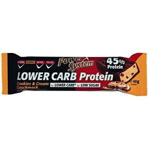 Power System LOWER CARB Cookies & Cream Bar with 45% Protein 40 g