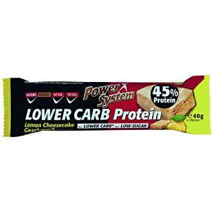Power System LOWER CARB Lemon Cheesecake Bar with 45% Protein 40 g
