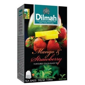Dilmah Čaj černý, Mango, Jahoda 20 ks