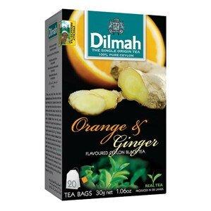 Dilmah Čaj černý, Pomeranč, Zázvor 20 ks