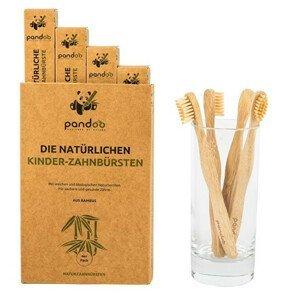 Pandoo Bambusové zubní kartáčky dětské Medium Soft - výhodné balení 4 ks